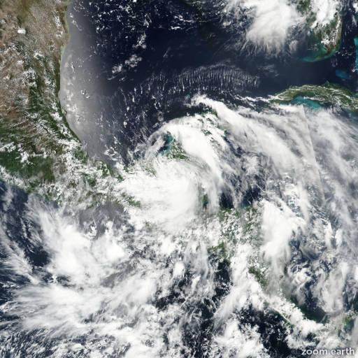 Satellite image of Hurricane Earl 2016