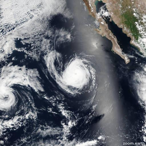 Satellite image of Hurricane Frank 2016