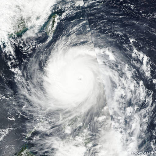 Satellite image of Typhoon Haima (Lawin) 2016
