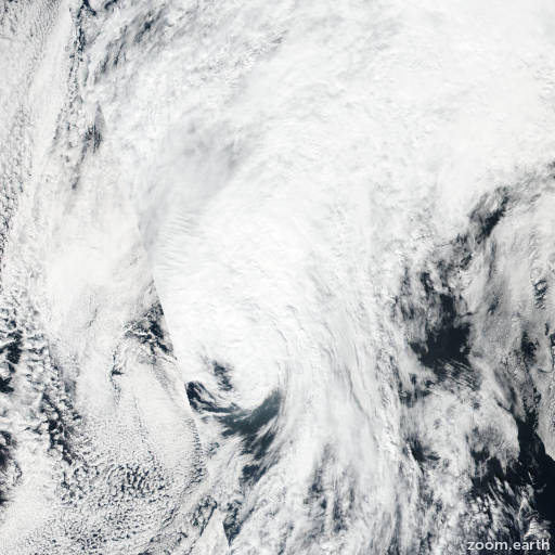 Satellite image of Storm Ian 2016