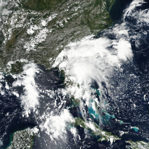 Satellite image of Storm Julia 2016