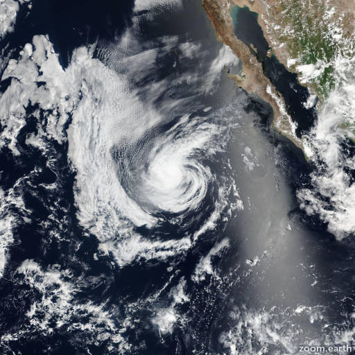 Satellite image of Storm Kay 2016