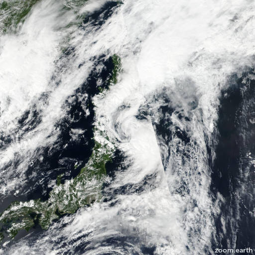 Satellite image of Storm Kompasu 2016