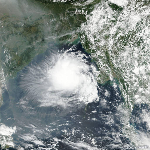 Satellite image of Cyclone Kyant 2016