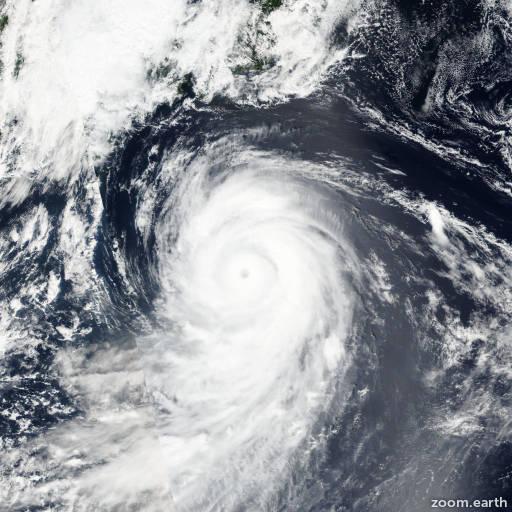 Satellite image of Typhoon Lionrock 2016