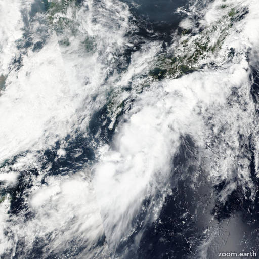 Satellite image of Storm Malou 2016