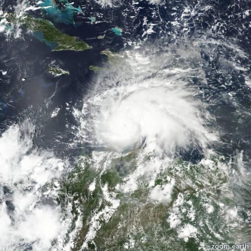 Satellite image of Hurricane Matthew 2016
