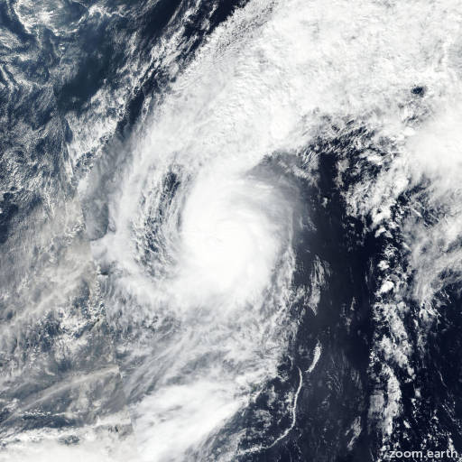 Satellite image of Typhoon Meari 2016