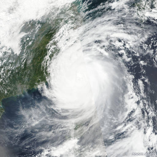 Satellite image of Typhoon Megi 2016