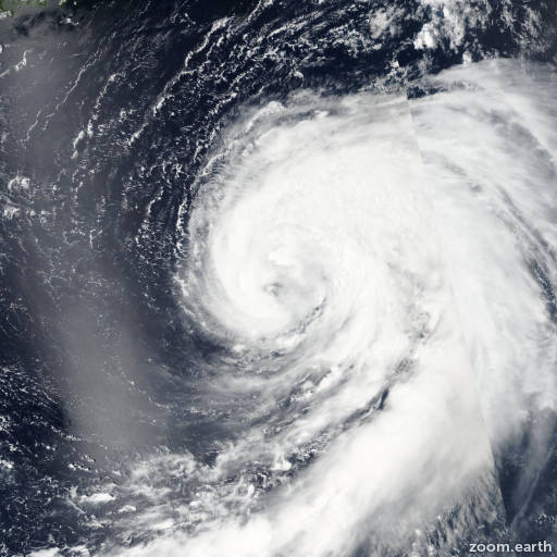 Satellite image of Storm Omais 2016