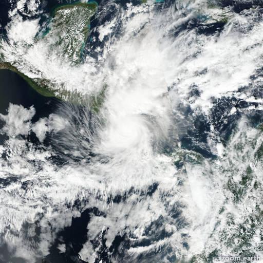Satellite image of Hurricane Otto 2016