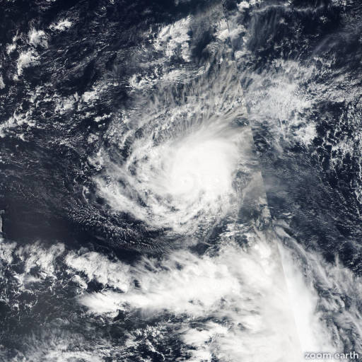 Satellite image of Hurricane Pali 2016