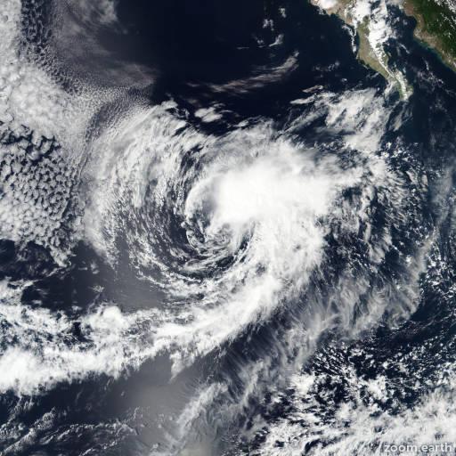 Satellite image of Storm Roslyn 2016
