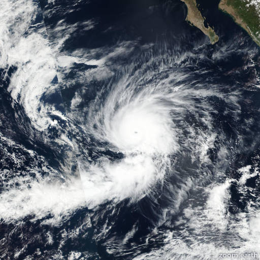 Satellite image of Hurricane Seymour 2016