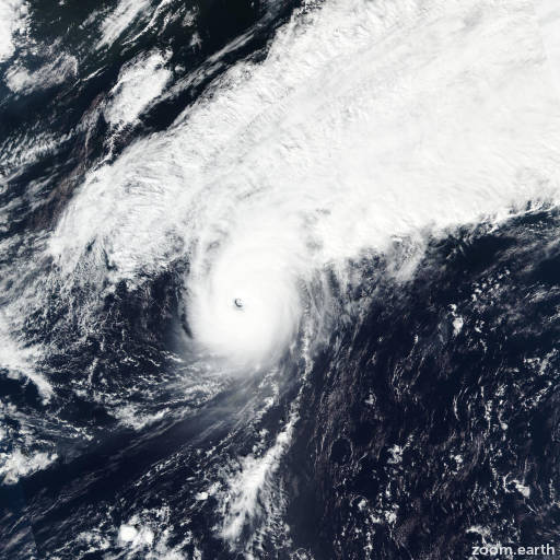 Satellite image of Typhoon Songda 2016