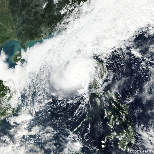 Satellite image of Typhoon Tokage 2016