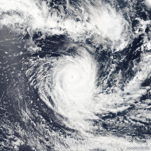 Satellite image of Cyclone Uriah 2016