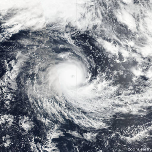Satellite image of Cyclone Winston 2016