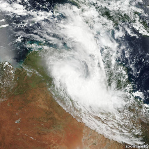 Satellite image of Cyclone Alfred 2017
