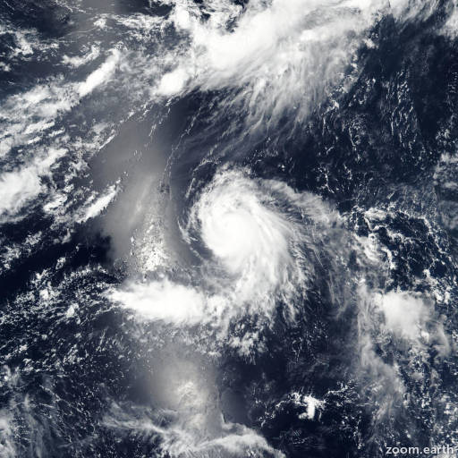 Satellite image of Typhoon Banyan 2017
