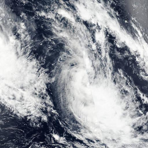Satellite image of Cyclone Bart 2017
