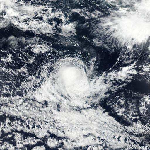 Satellite image of Cyclone Caleb 2017