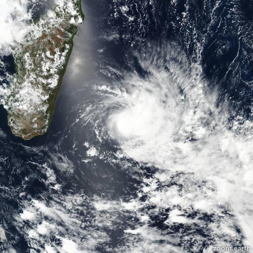 Satellite image of Storm Carlos 2017