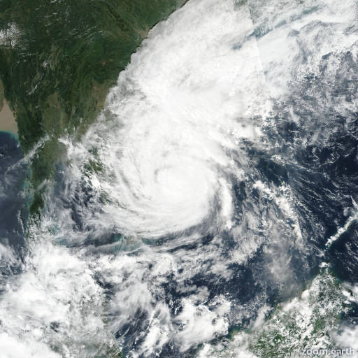 Satellite image of Typhoon Damrey 2017