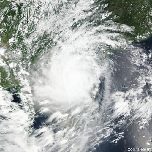 Satellite image of Typhoon Doksuri (Maring) 2017
