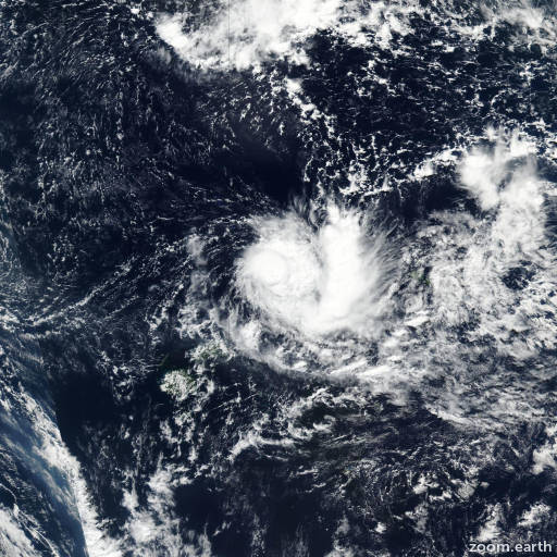Satellite image of Cyclone Ella 2017