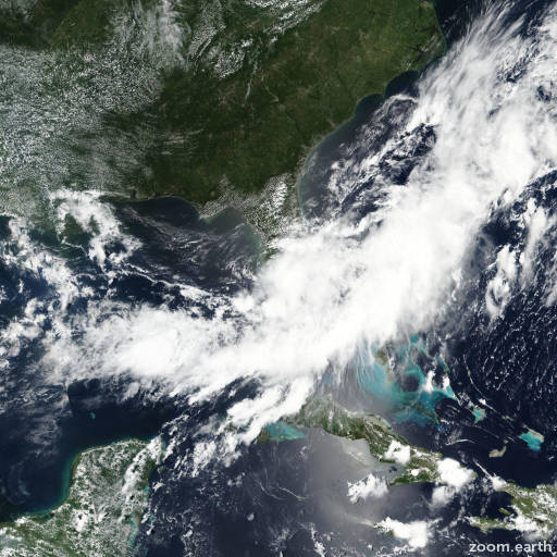 Satellite image of Storm Emily 2017