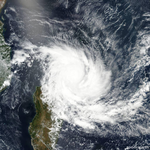Satellite image of Cyclone Enawo 2017