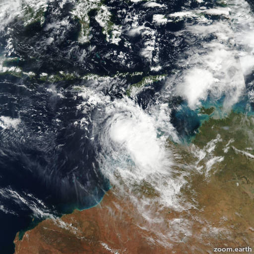 Satellite image of Cyclone Frances 2017