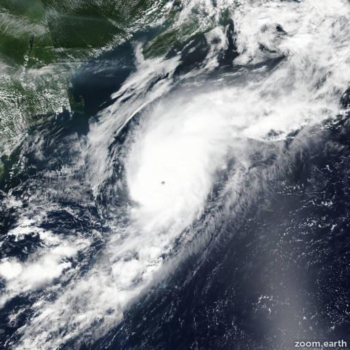 Satellite image of Hurricane Gert 2017