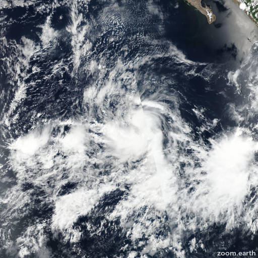 Satellite image of Cyclone Greg 2017