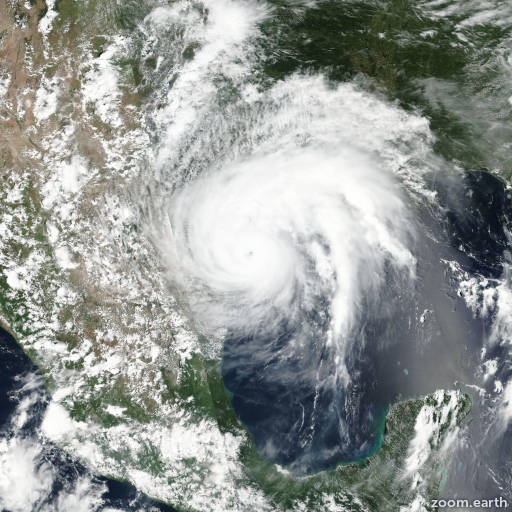 Satellite image of Hurricane Harvey 2017
