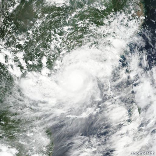 Satellite image of Typhoon Hato 2017