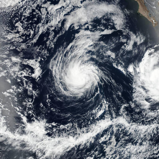 Satellite image of Hurricane Irwin 2017