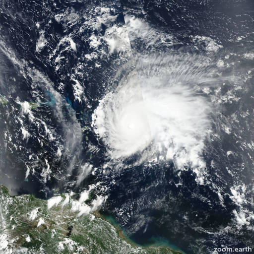 Satellite image of Hurricane Jose 2017