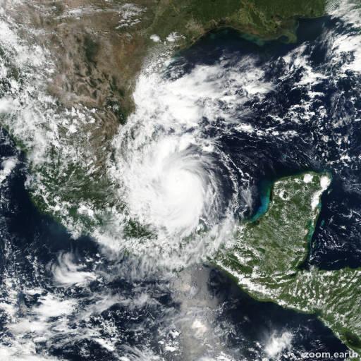 Satellite image of Hurricane Katia 2017