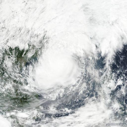 Satellite image of Typhoon Khanun 2017