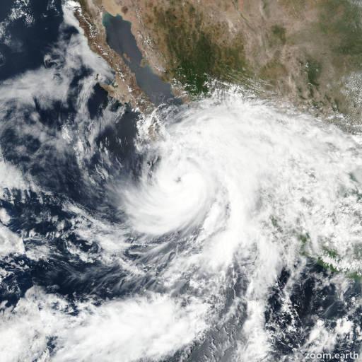Satellite image of Storm Lidia 2017