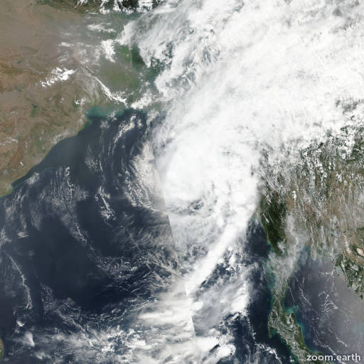 Satellite image of Cyclone Maarutha 2017