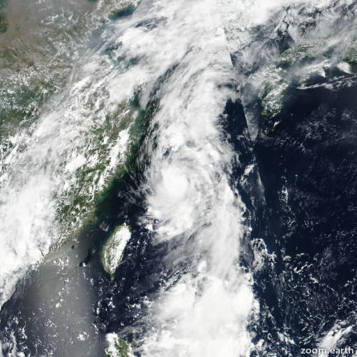 Satellite image of Storm Nanmadol (Emong) 2017
