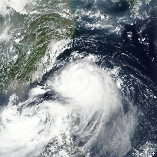 Satellite image of Typhoon Nesat (Gorio) 2017