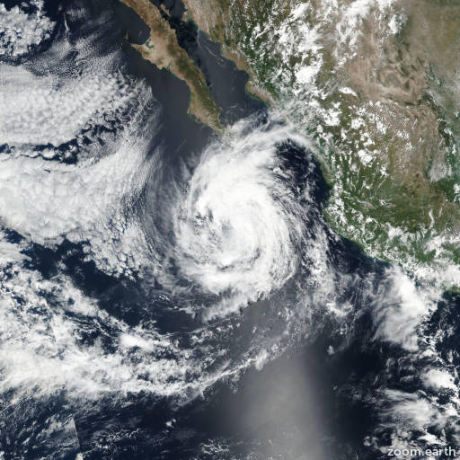 Satellite image of Hurricane Norma 2017