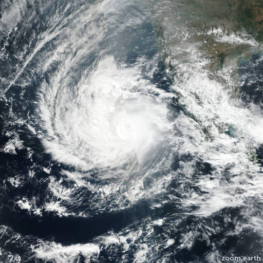Satellite image of Cyclone Ockhi 2017