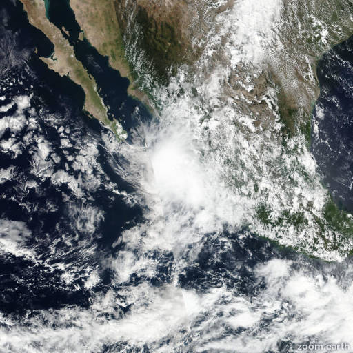 Satellite image of Storm Pilar 2017