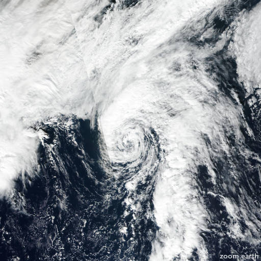 Satellite image of Storm Rina 2017