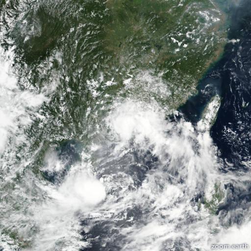 Satellite image of Storm Roke 2017